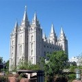 Mormon Temples in the Rocky Mountains